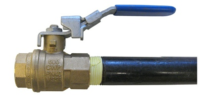 G-TEC provides a shutoff valve with the Torch Booster or Refueler
