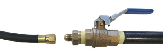 Shutoff valve, adapter and flexible supply hose
